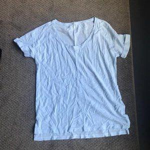 Light Blue Linen T-shirt from the GAP